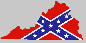 Rebel_Flag_Virginia_shaped_sticker
