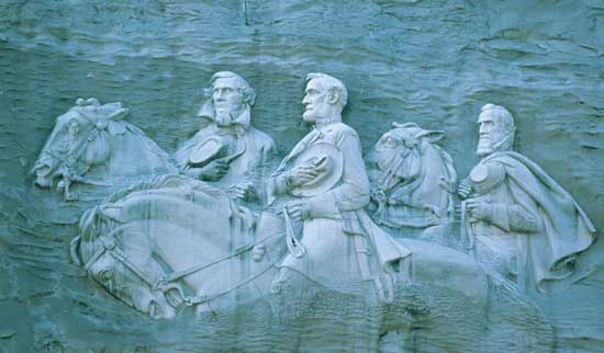 Black supremacists want stone mountain carving destroyed